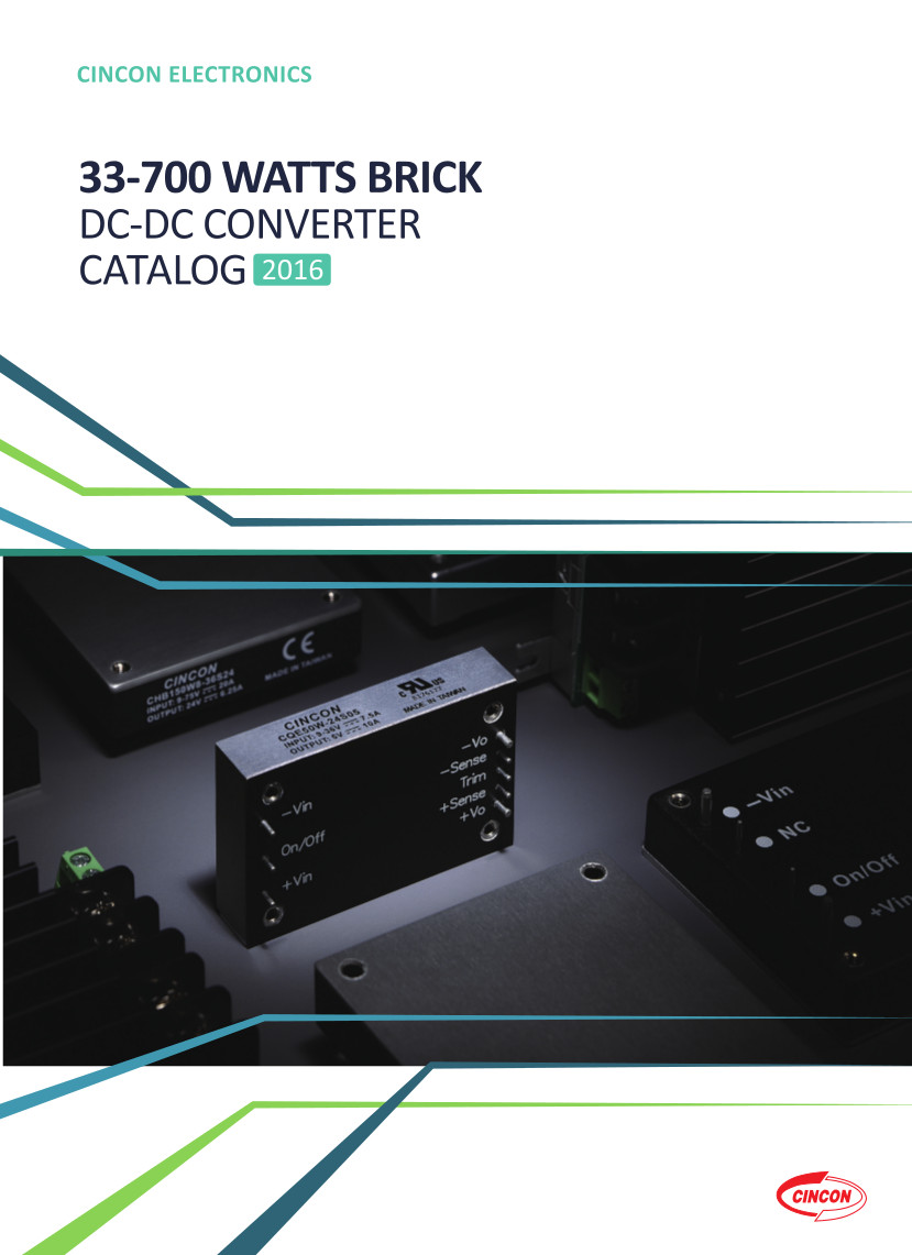 Couverture catalogue Cincon DC-DC 33 à 700W