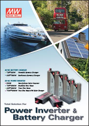 Couverture Catalogue Chargeur & Inverter MEAN WELL