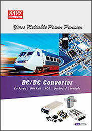 Couverture Catalogue Convertisseurs DC/DC MEAN WELL